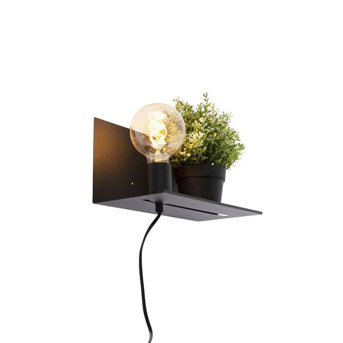 Moderne-wandlamp-zwart-verstelbaar---Muro