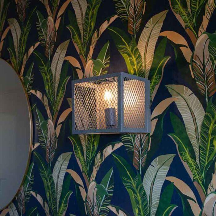 Industriele-wandlamp-antiek-zilver---Cage-Robusto