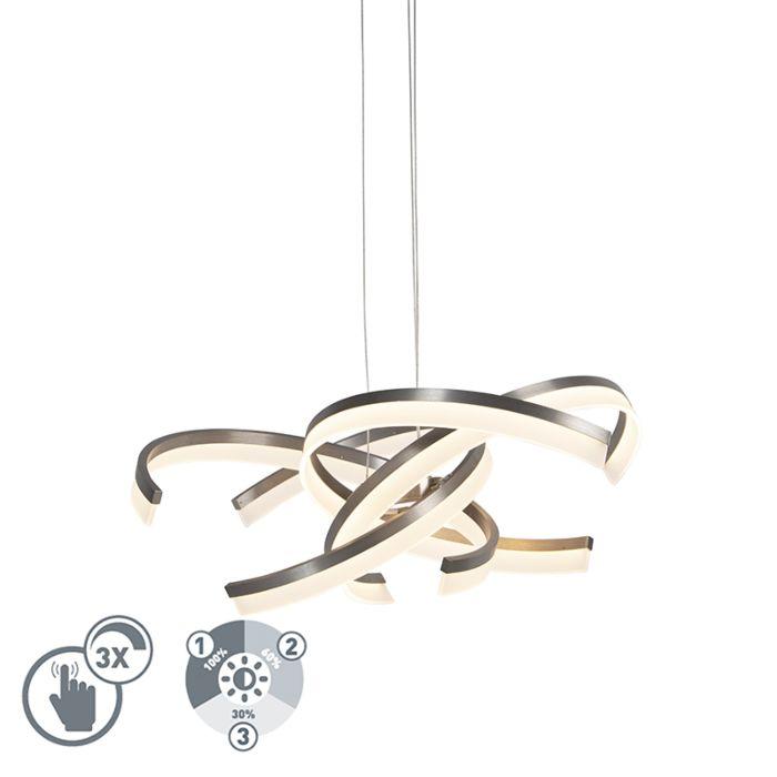 Design-hanglamp-staal-incl.-LED-3-staps-dimbaar---Friz
