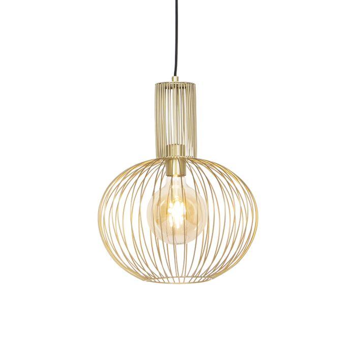 Design-hanglamp-goud---Wire-Bake
