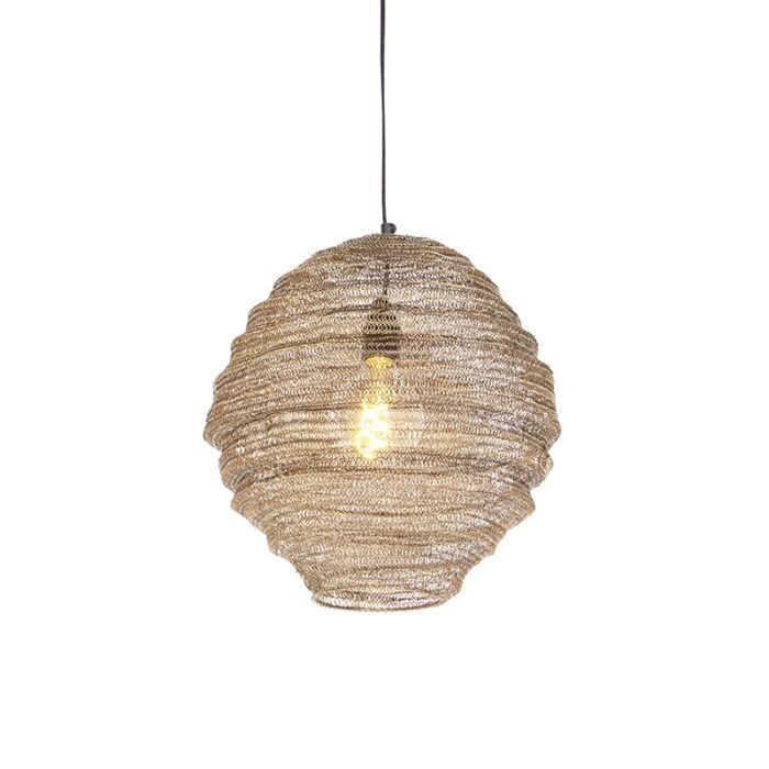 Oosterse-hanglamp-messing-35-cm---Nidum-Mena