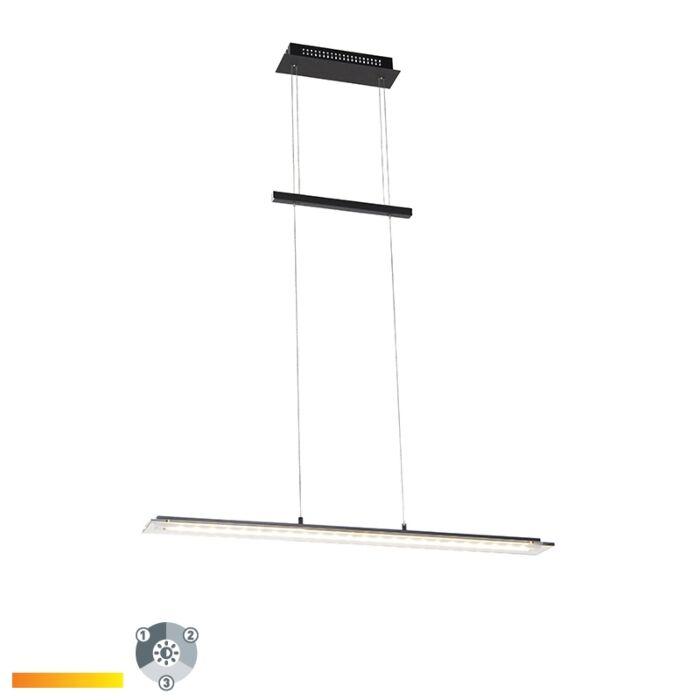 Design-hanglamp-zwart-88-cm-incl.-LED-3-staps-dimbaar---Cavolo