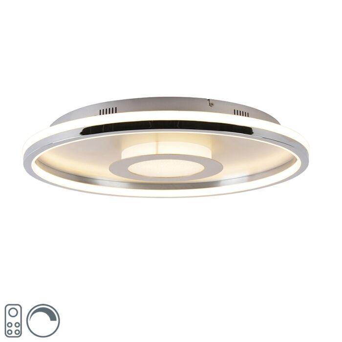 Plafonnière-aluminium-59-cm-incl.-LED-met-afstandsbediening---Oculus