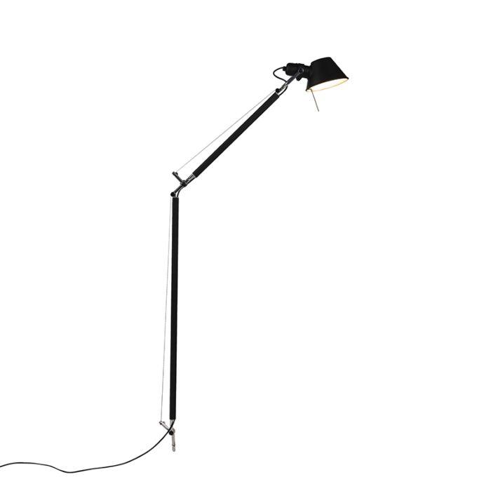 Vloerlamp-body-zwart---Artemide-Tolomeo-Lettura