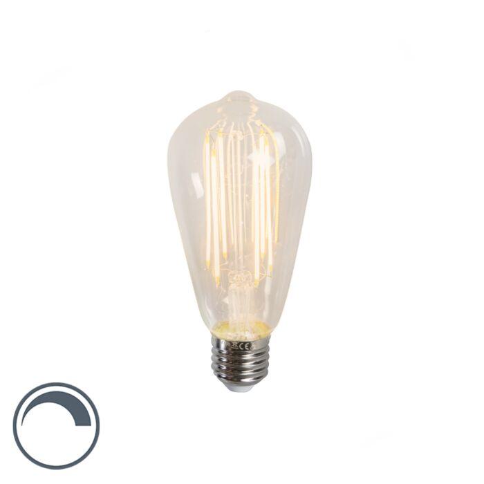 LED-filament-lang-rustieklamp-ST64-E27-240V-4W-350LM-2300K