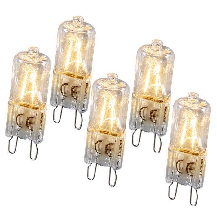 Halogeenlamp-G9-28W-Set-van-5