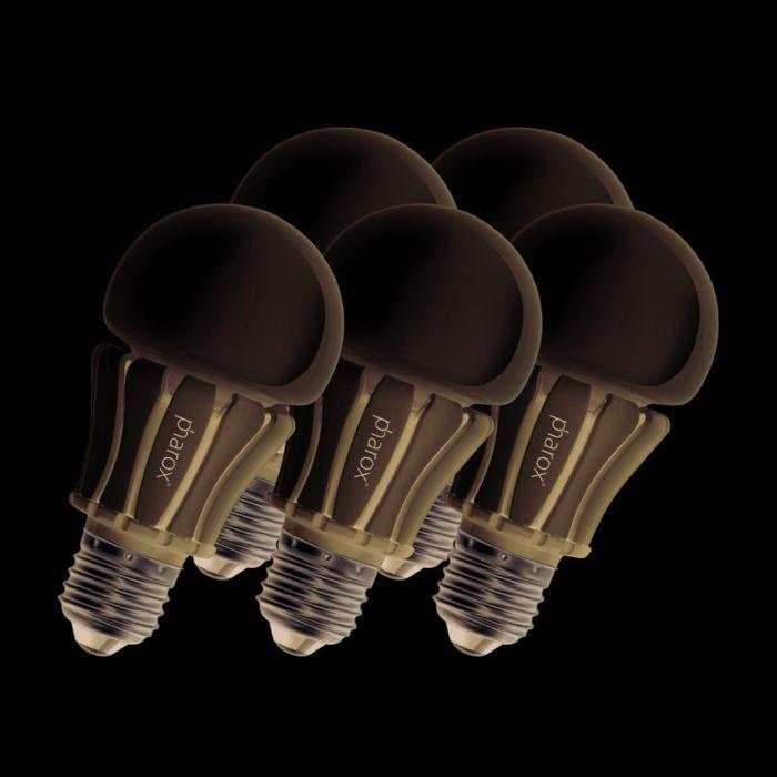 Set-van-5-Pharox-LED-lamp-400-E27-8W-230V