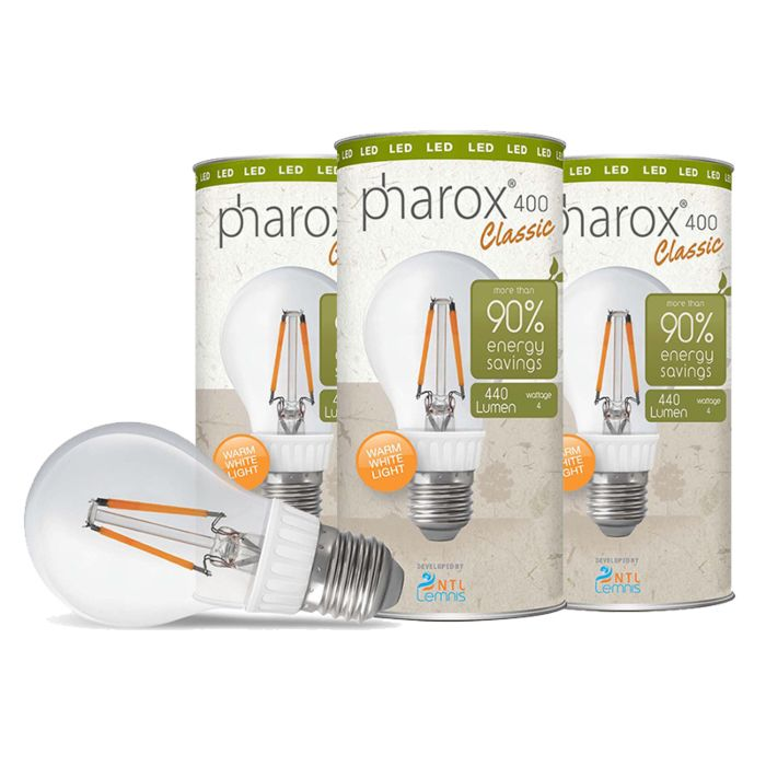 Set-van-3-Pharox-LED-lampen-400-Classic-E27-4W