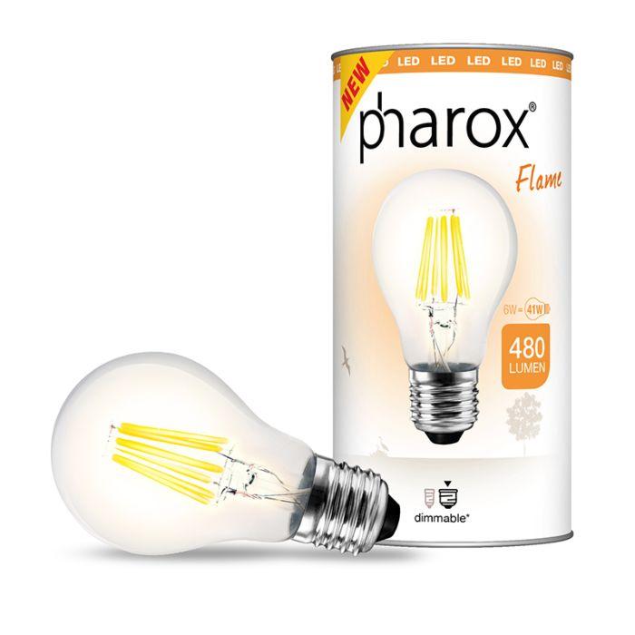 Pharox-LED-lamp-Flame-E27-6W-480-lumen