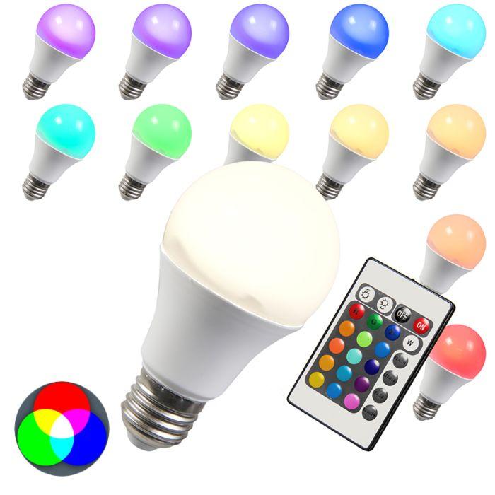 LED-lamp-RGB-E27-10W-extra-warm-wit