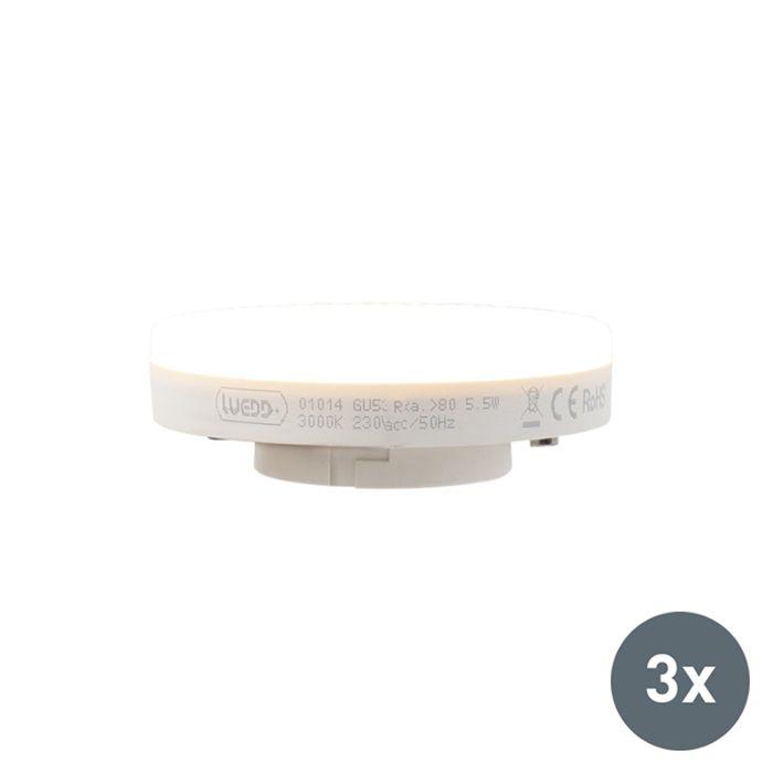 Set-of-3-GX53-LED-lamp-5.5W-470-lumen-3000K