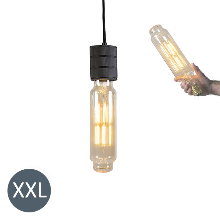 Hanglamp-Tower-zwart-met-dimbare-LED-lamp