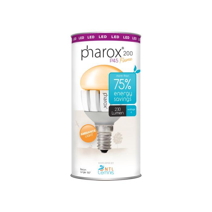 Pharox-LED-lamp-200-P45-Flame-E14-4W