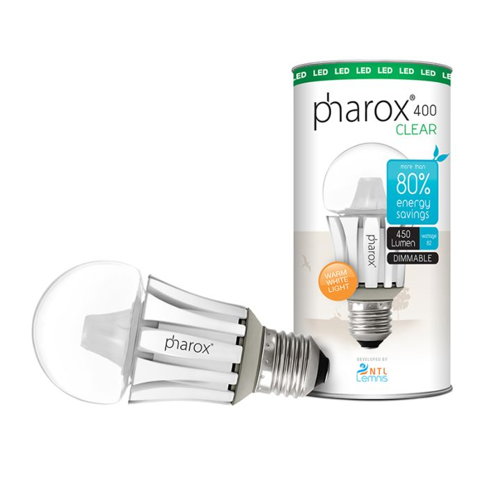 Pharox-LED-lamp-400-Clear-E27-8W