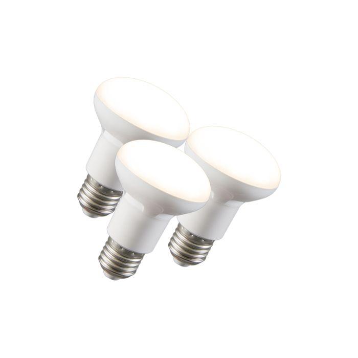 Set-van-3-LED-reflectorlamp-R63-E27-240V-8W-2700K-dimbaar