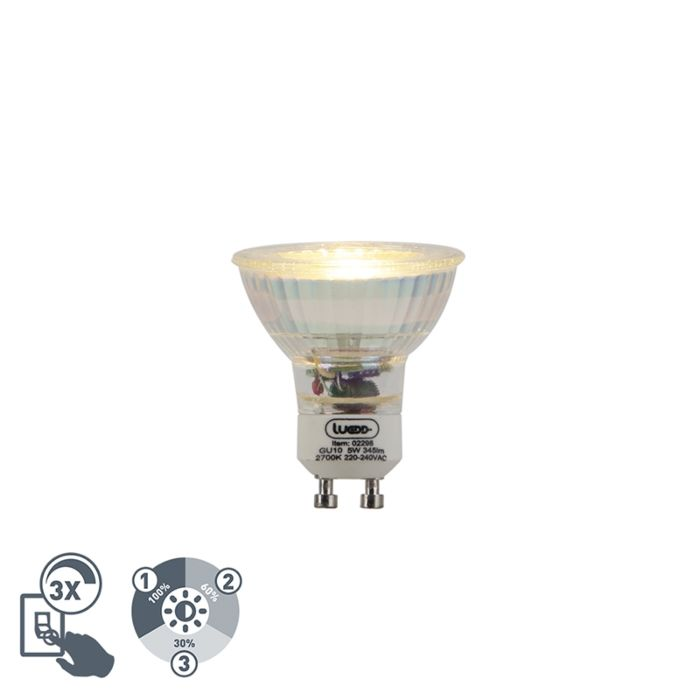LED-GU10-lamp-5W-345-lumen-2700K-3-staps-dimbaar