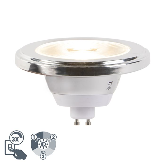 GU10-3-staps-dimbare-LED-lamp-AR111-5,5W-2700K