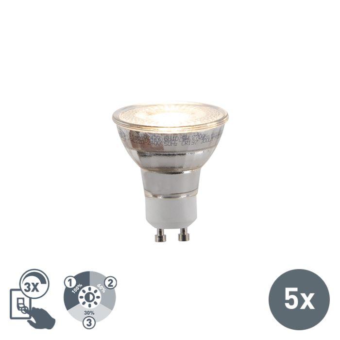 Set-van-5-GU10-3-staps-dimbare-LED-lampen-5W-300lm-