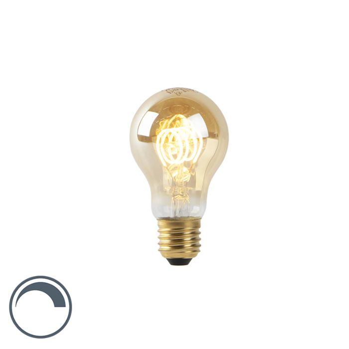LED-lamp-A60-E27-4W-2200K-goud-spiraal-filament-dimbaar