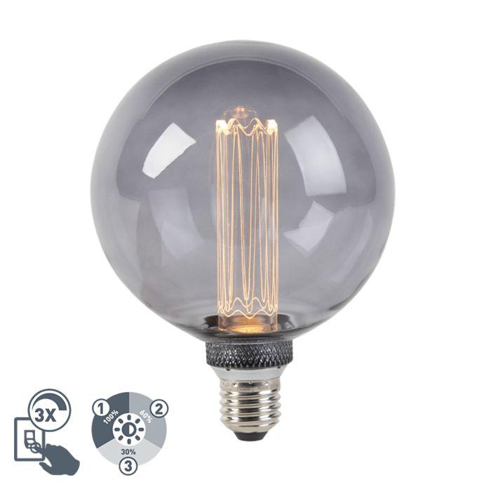 LED-lamp-G125-E27-5W-2000K-smoke-3-staps-dimbaar