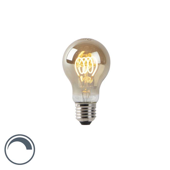 LED-lamp-A60-E27-4W-2200K-smoke-spiraal-filament-dimbaar