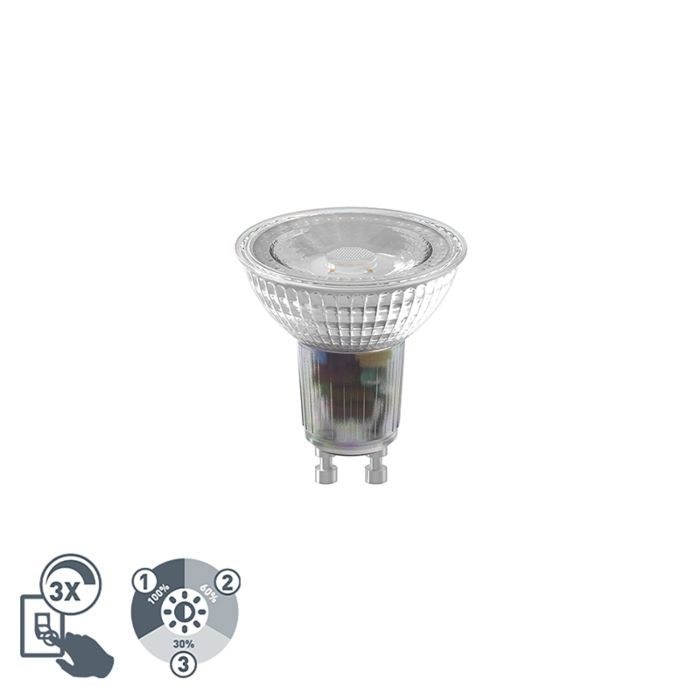 GU10-3-staps-dimbare-LED-lamp-6,5W-460-lm-2700K