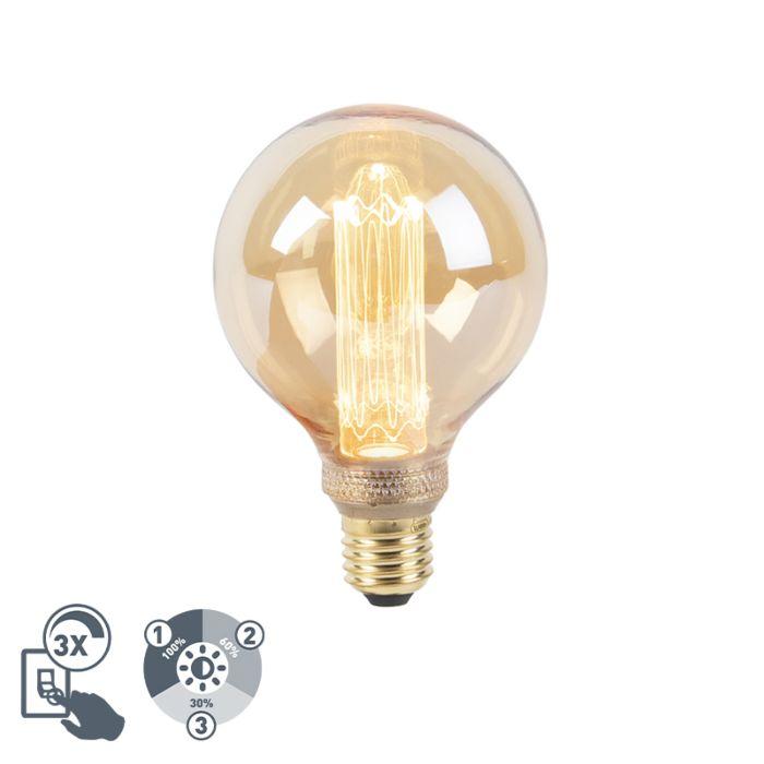 LED-lamp-G95-E27-5W-1800K-amber-3-staps-dimbaar