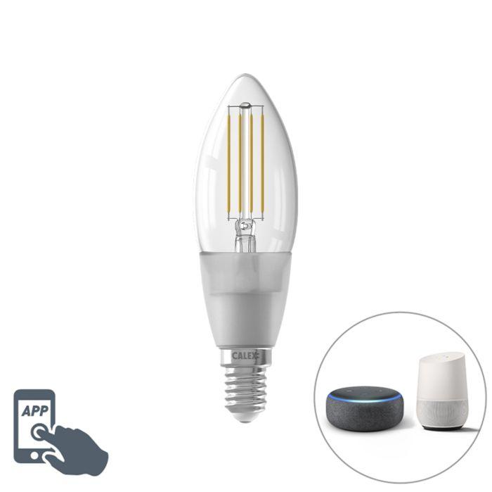 Smart-LED-kaars-filament-lamp-E14-1800-3000K-4,5W-450-lm