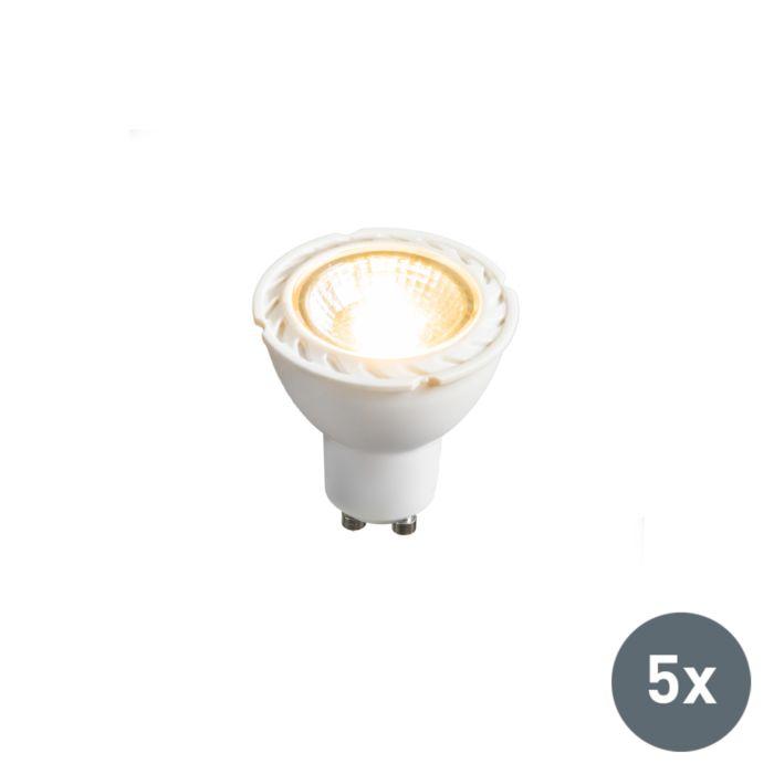 Set-van-5-LED-lamp-GU10-240V-7W-2700K-dimbaar