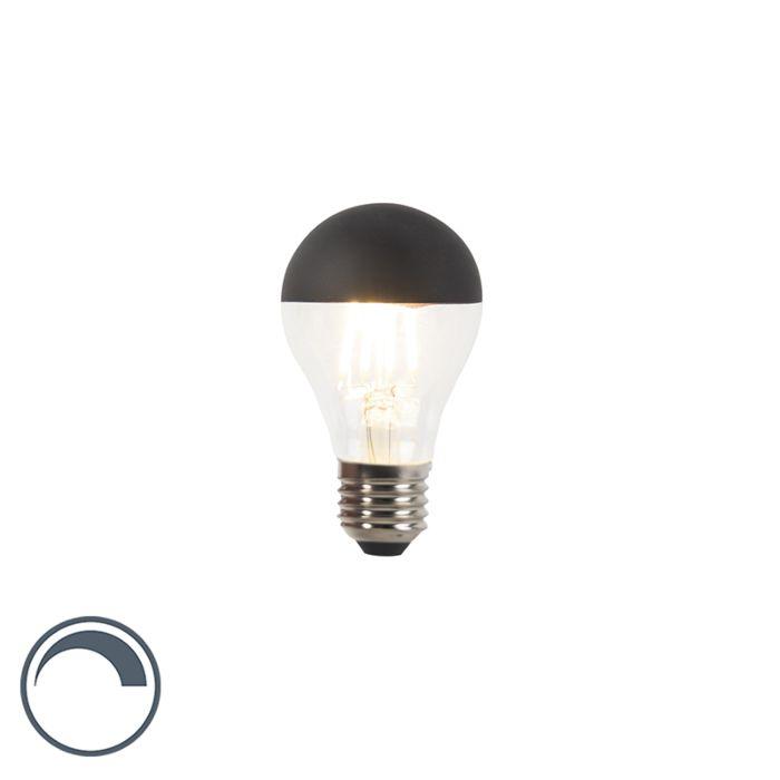 E27-dimbare-LED-filamentlamp-kopspiegel-A60-zwart-350lm-2700K