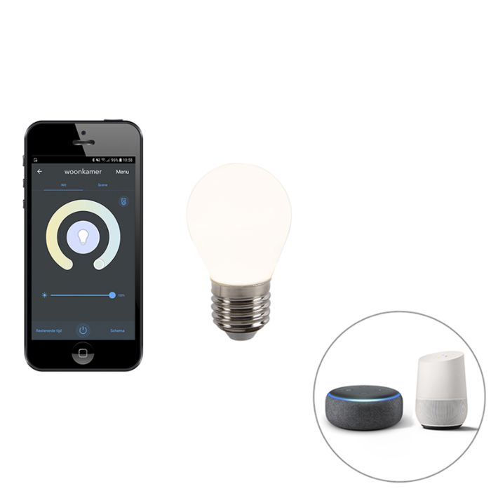 E27-dimbare-LED-lamp-P45-WiFi-Smart-met-app-400-lm-2200---4000K