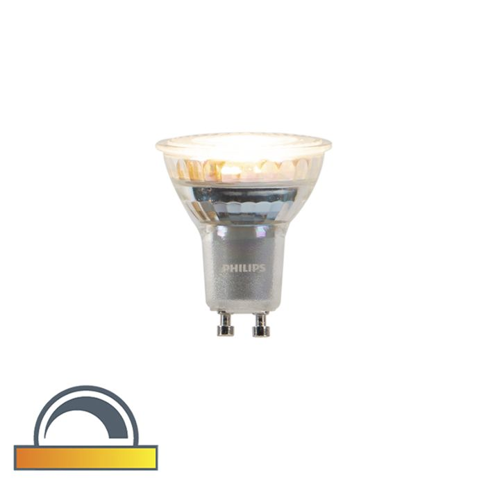 GU10-dim-to-warm-Philips-LED-lamp-3,7W-260-lm-2200K---2700K
