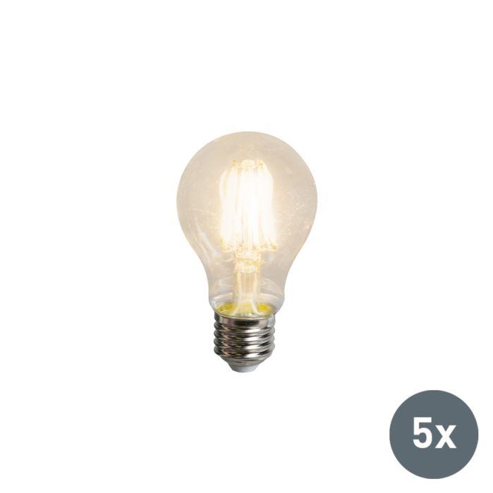 Set-van-5-LED-filament-lamp-A60-E27-5.5W-600-lumen