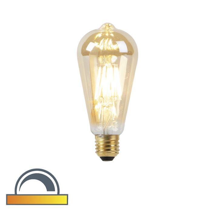 LED-lamp-E27-ST64-8W-2000-2600K-dim-to-warm-goldline-filament