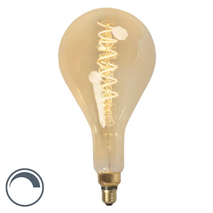 LED-gedraaide-filamentlamp-MEGA-splash-E27-240V-4W-dimbaar