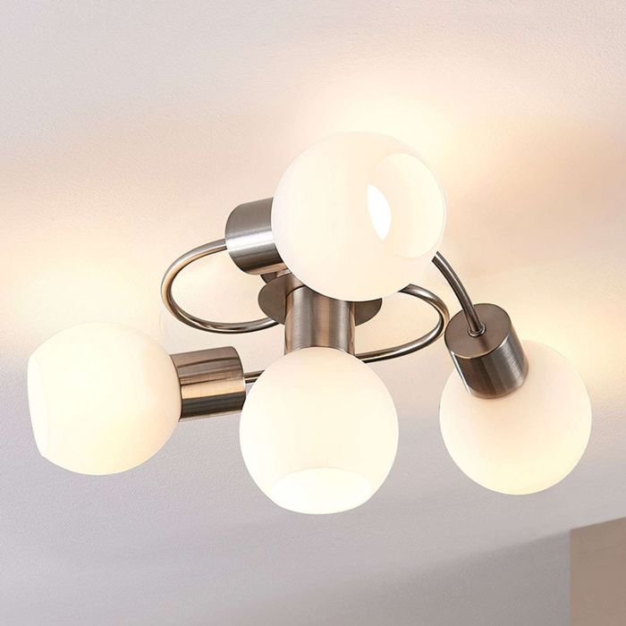 Moderne-plafondlamp-staal-met-glas-incl.-LED---Ciala