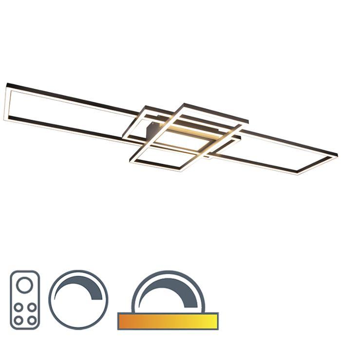 Plafonnière-antraciet-incl.-LED,-afstandsbediening---Riha