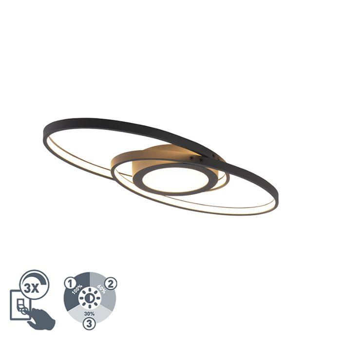 Design-plafonnière-zwart-incl.-LED-3-staps-dimbaar---Axy