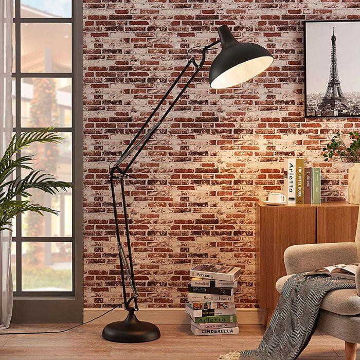 Industriële-vloerlamp-zwart-200-cm-verstelbaar---Hobby