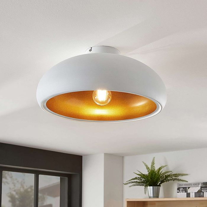 Moderne-plafondlamp-wit-met-goud---Gerwina