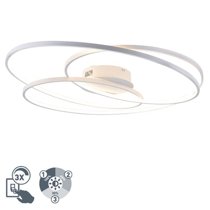 Plafonnière-wit-80-cm-incl.-LED-3-staps-dimbaar---Rowin