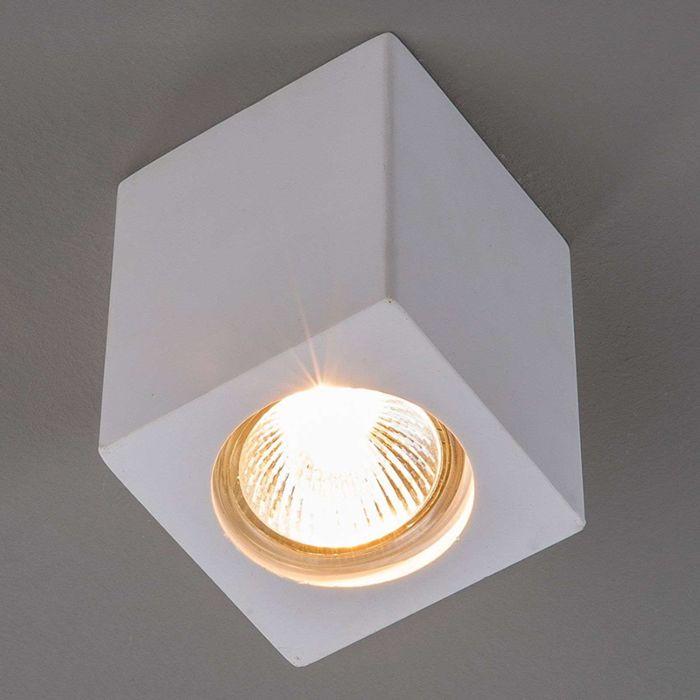 Moderne-plafondspot-wit-gips---Anelie