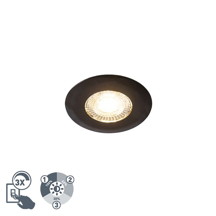 Inbouwspot-zwart-incl.-LED-3-staps-dimbaar---Ulo