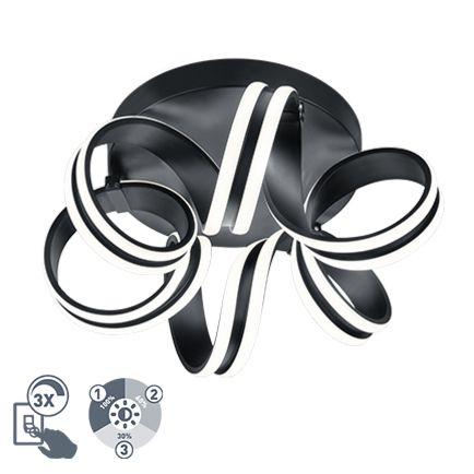 Design-plafondlamp-zwart-3-staps-dimbaar-incl.-LED---Filum