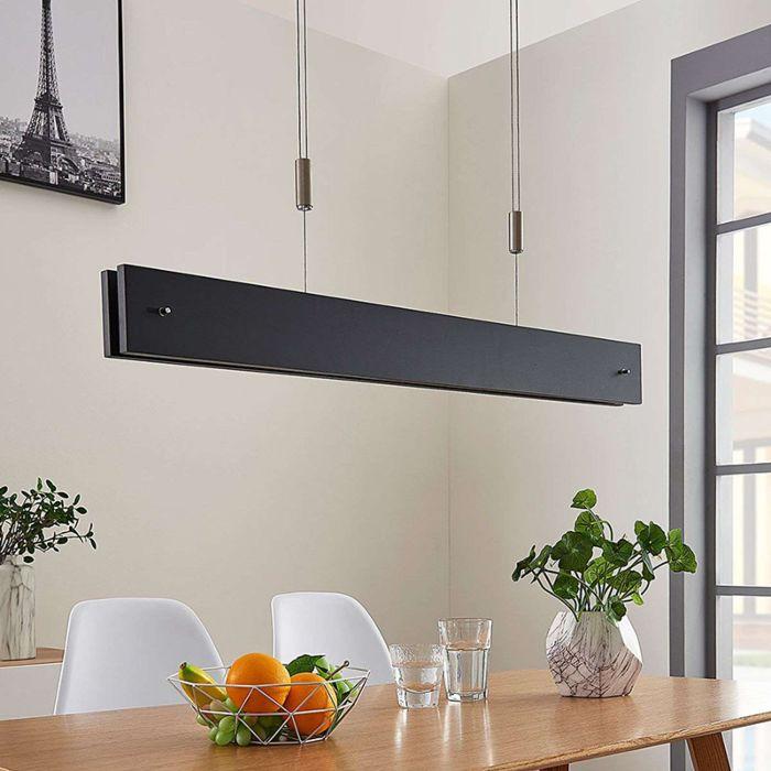 Moderne-hanglamp-zwart-incl.-LED-en-touchdimmer---Karinja