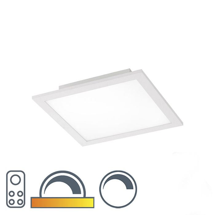 Plafonniere-wit-30-cm-incl.-LED-met-afstandsbediening---Orch