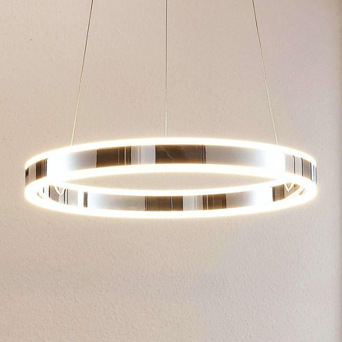 Moderne-hanglamp-chroom-50-cm-incl.-LED-3-staps-dimbaar---Lyani