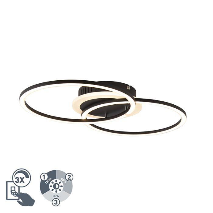 Design-plafondlamp-zwart-incl.-LED-3-staps-dimbaar---Veni