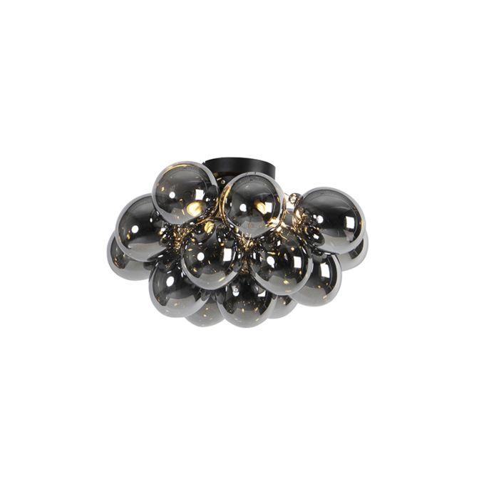 Design-plafondlamp-zwart-met-smoke-glas-4-lichts---Uvas