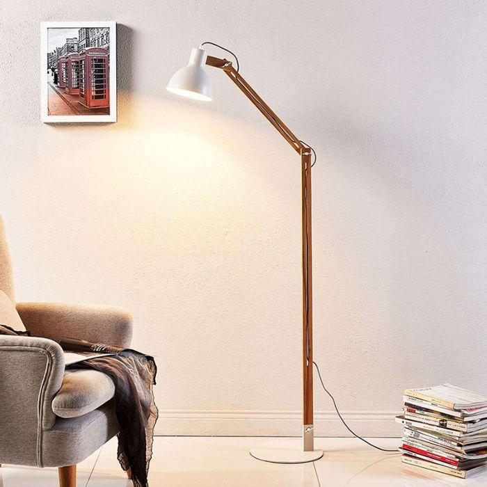 Landelijke-vloerlamp-hout-met-wit---Shivanja